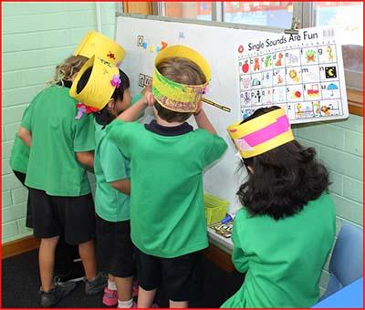 Kindergarten working together