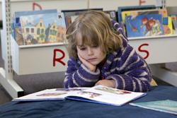 Preschool student reading