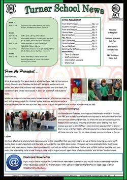 Turner School News cover